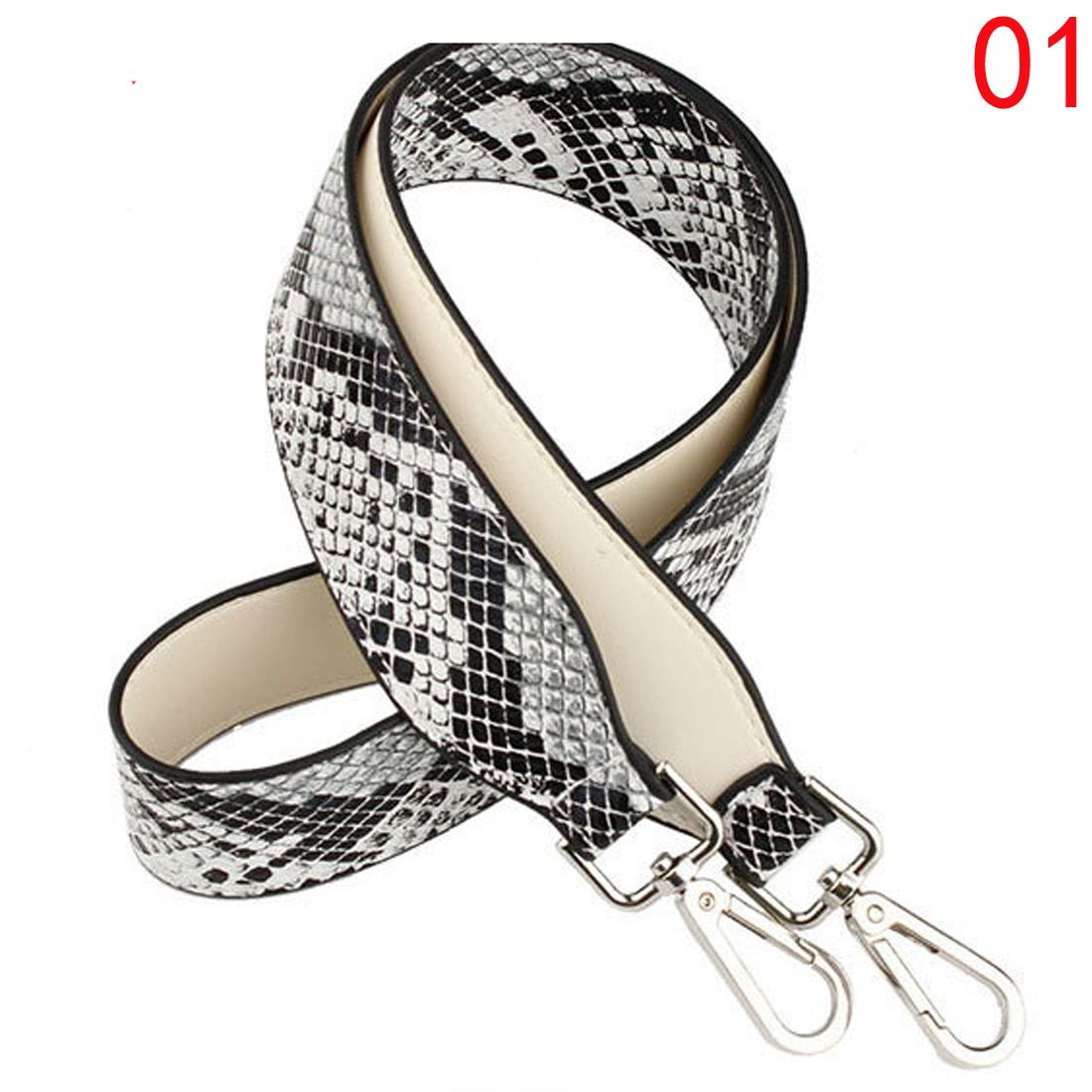 SFG HOUSE FASHION Snakeskin Leather Handle Strap Casual Wide Women Bag Straps Lengthened Replacement Shoulder Bag Straps