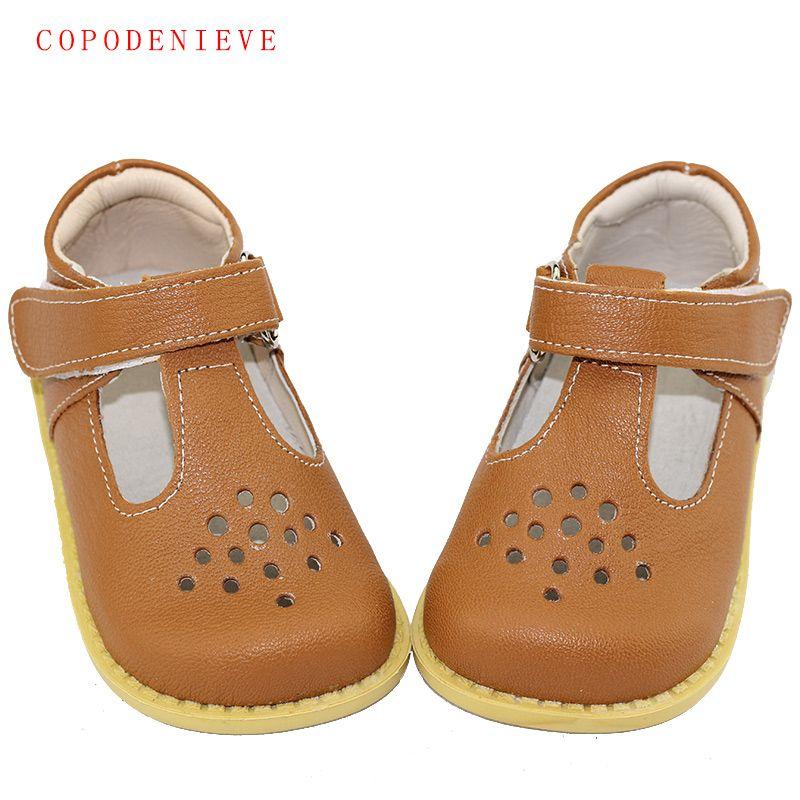 Copodenieve Лето Пояса из натуральной кожи детей Сандалии для девочек для Обувь для девочек выдалбливают Боути Дети Сандалии для девочек в форме ...