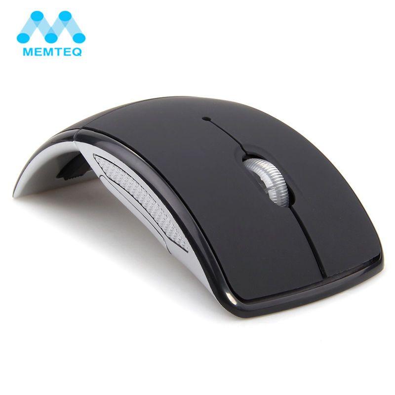 MEMTEQ Sans Fil Souris 2.4 Ghz Souris D'ordinateur Pliable Voyage Portable Muet Souris Mini Souris USB Récepteur pour Ordinateur Portable PC De Bureau