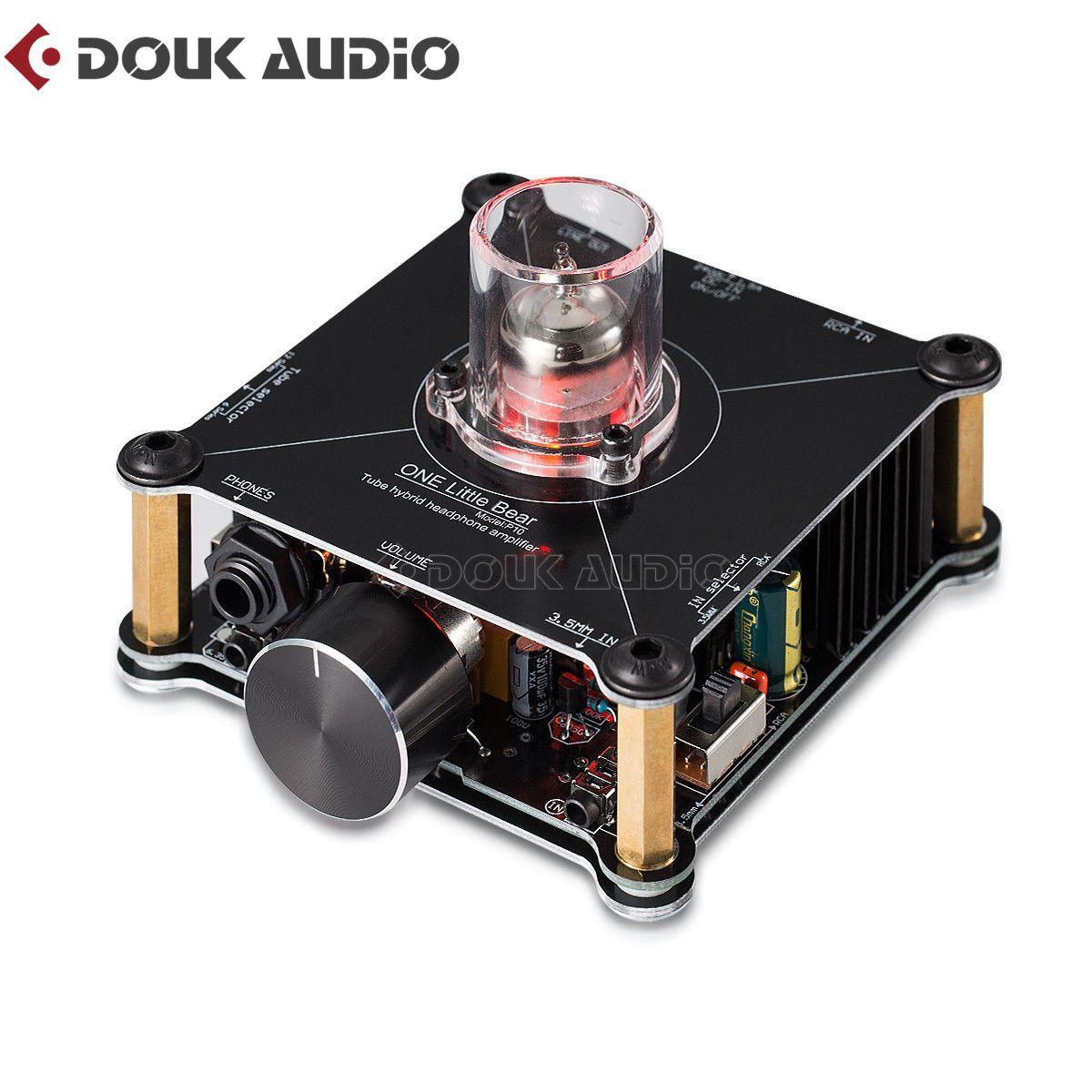 Douk audio Hallo-fi Mini Klasse A 12AU7 Rohr Multi-Hybrid Kopfhörer Verstärker Stereo Pre-Amp Wenig Bär P10 hause Amp