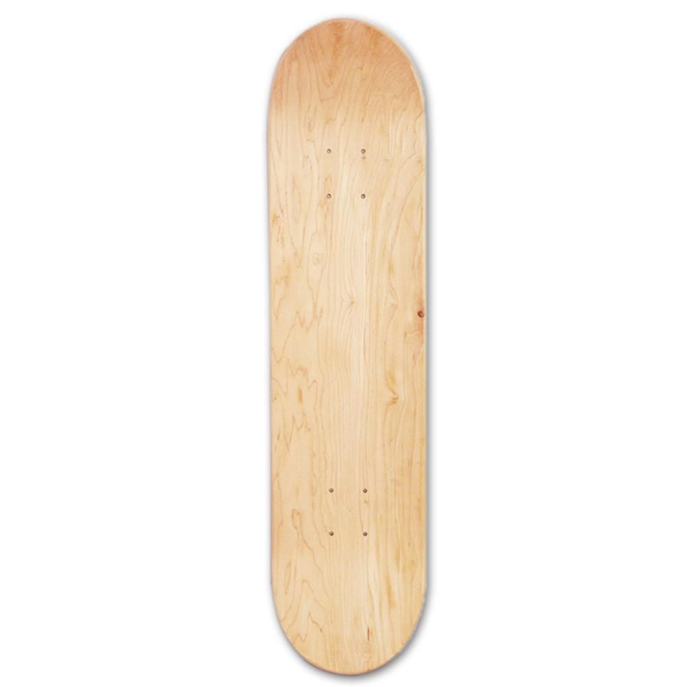 8inch 8-Layer Maple Blank Double Concave Skateboards Natural Skate Deck Board Skateboards Deck Wood Maple Double Warped Concave