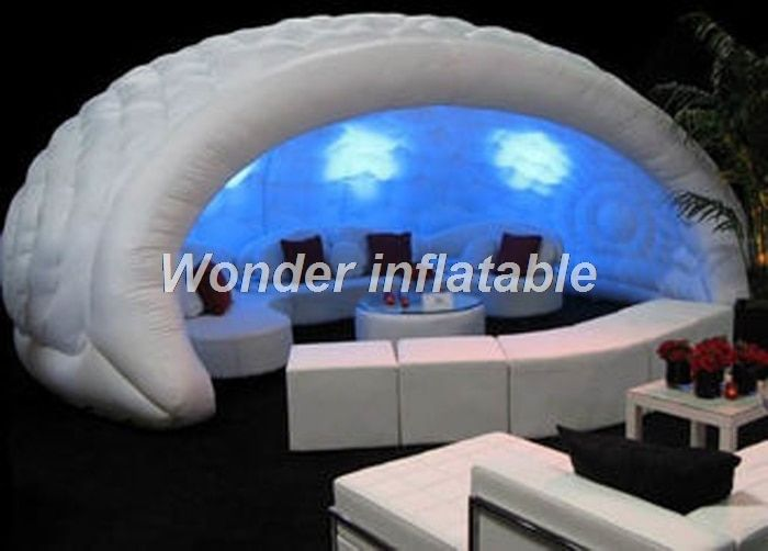Hot sale commercial 5mW giant LED lighting inflatable bar tent inflatable dome tent for advertising