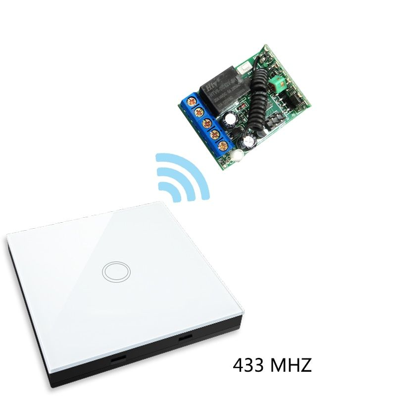 Vhome Smart Home wireless RF 433MHZ Switch panel Shape Remote Control+Receiver for Touch switches,garage doors,electric curtains