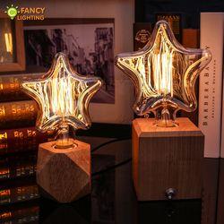 Vintage Lampu Bohlam E27 Mini/Bintang Besar Lampada Retro 220 V 40 W Lampu Bohlam Edison untuk Rumah/ kamar Tidur/Ruang Tamu Industri Dekorasi