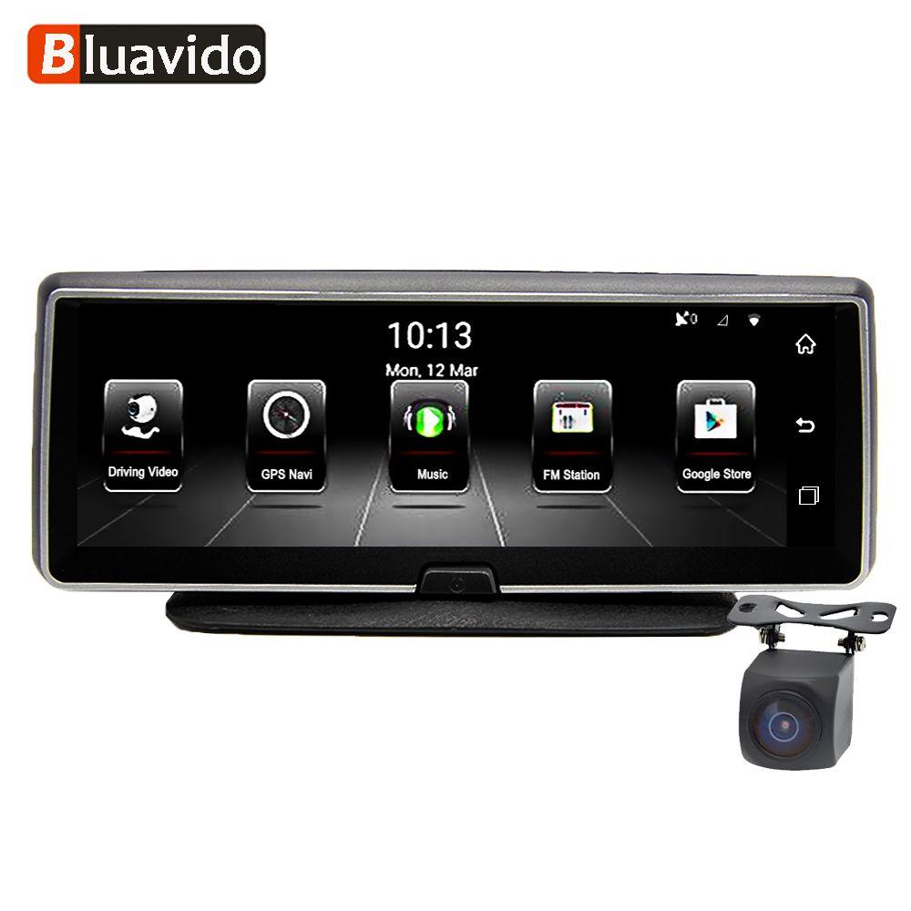 Bluavido 8 Inch 4G Car DVR camera GPS FHD 1080P Android Navigation ADAS Night Vision Dash Cam Video Recorder Remote Live monitor