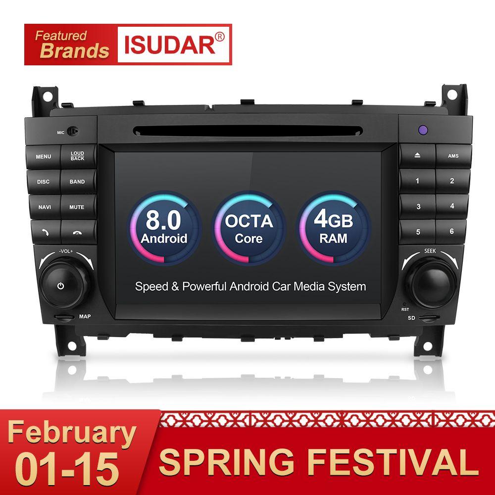 Isudar Auto Multimedia-Player GPS Android 8.0 Autoradio Für Mercedes/Benz/Sprinter/W203/A180/Viano/ vito/A-klasse Radio FM DSP DVR