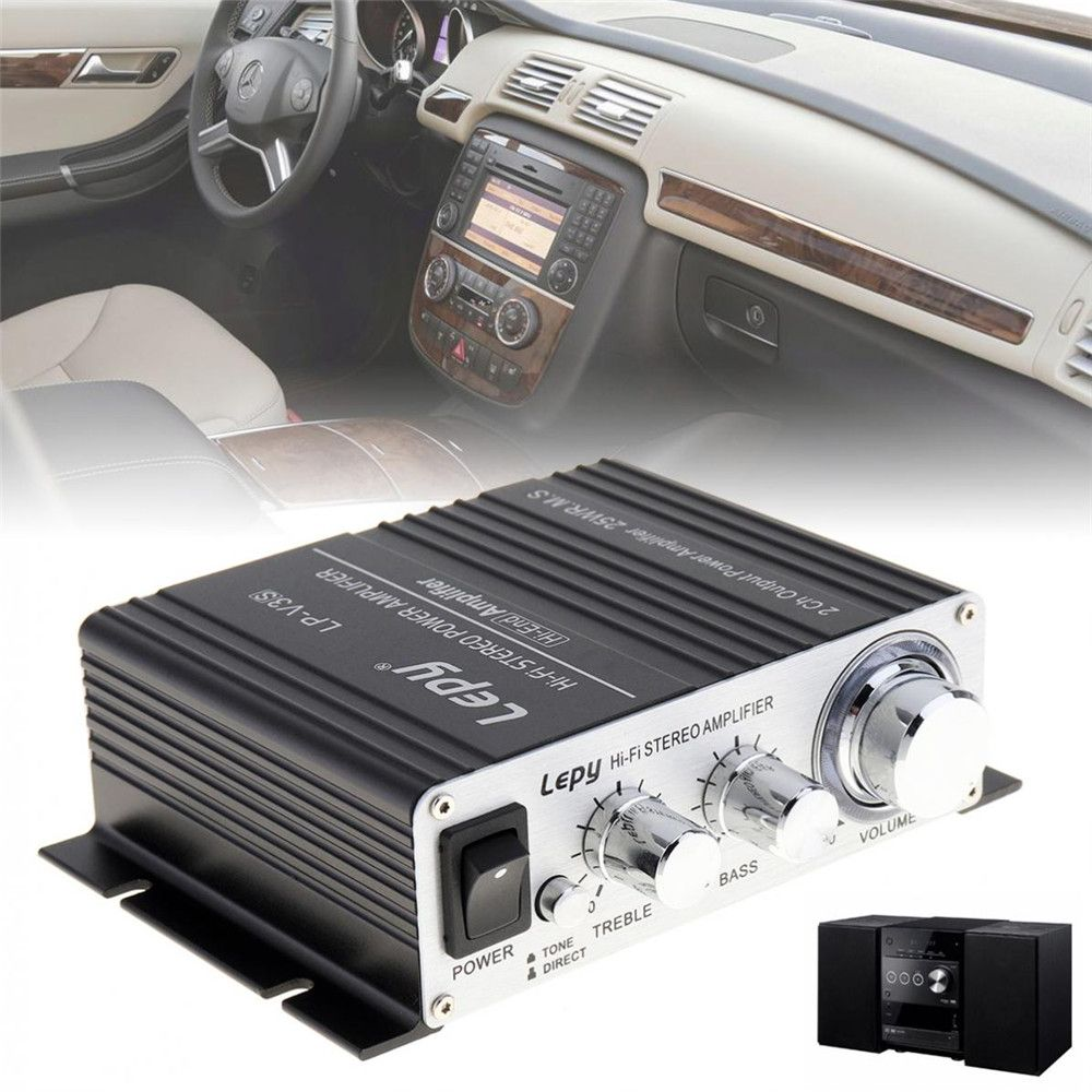 Mini V3 20W 12V Hi-Fi Stereo Car Amplifier MP3 Vehicle Car Amp for iPod