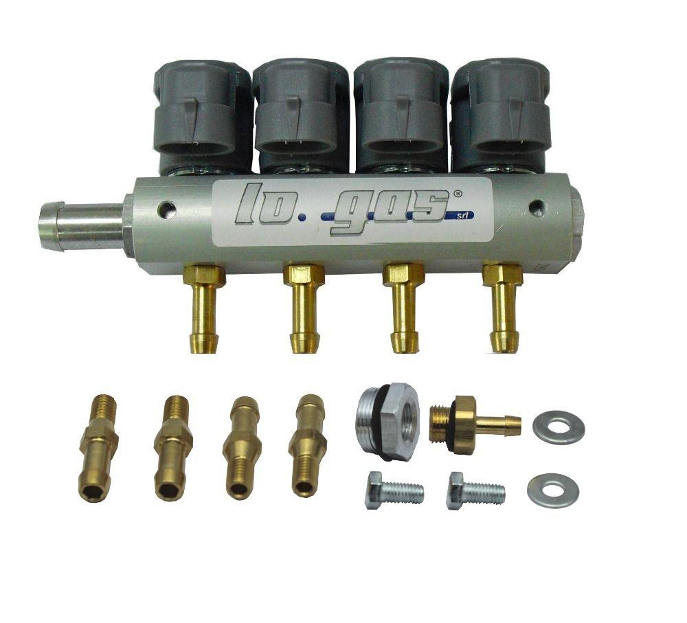 LPG/CNG Injektor Schiene für 4 Zylinder Sequentielle Einspritzung System 67R und 110R ECE