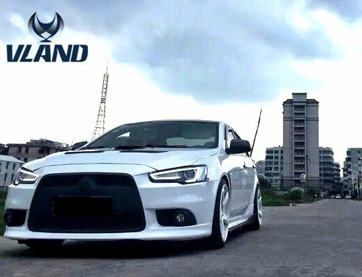VLAND factory for Car head lamp for Lancer LED Headlight 2008-2017 Head light with xenon HID projector lens and DRL