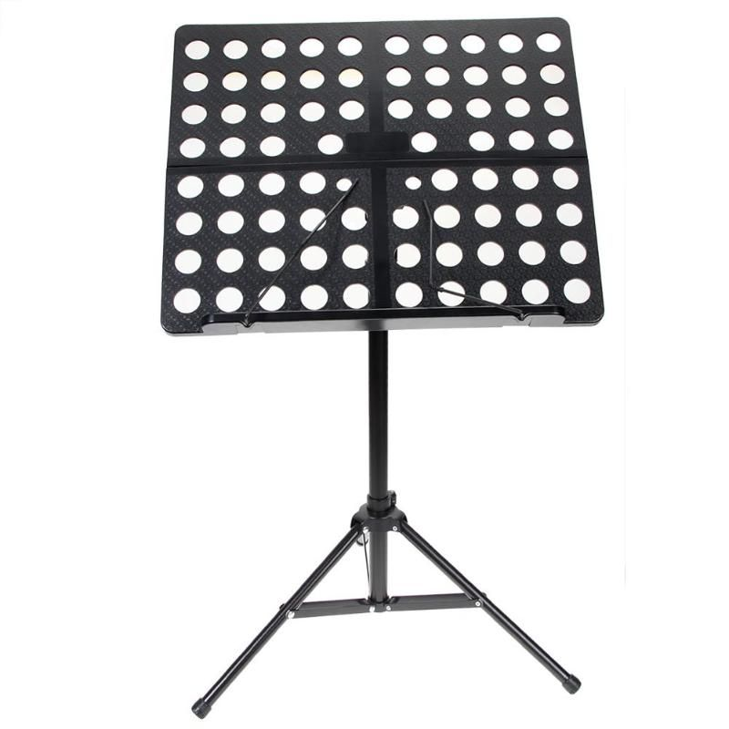 Flanger Colourful Sheet Folding Music Stand Aluminum Alloy Tripod Stand Holder with Soft Case Carrying Bag Black White Blue Pink