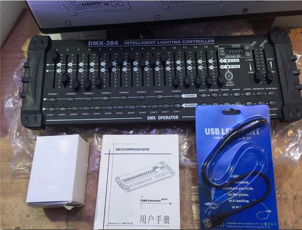 Venta caliente estándar Internacional DMX 384 controlador de controlador de luz principal móvil del haz 512 controlador dmx equipo de DJ console