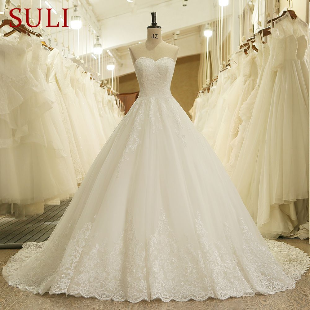 HW091 <font><b>Charming</b></font> Sweetheart Applique Lace Vintage Bridal Wedding Dress Princess Wedding Dresses Turkey