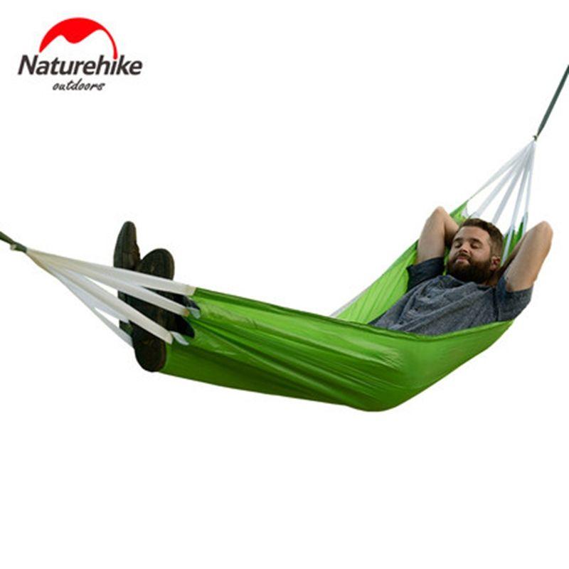 Nature randonnée Camping en plein air hamac Parachute tissu randonnée suspendu tente lit dormir pique-nique hamacs balançoire Portable ultraléger