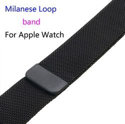 Milanese Loop Link Bracelet Stainless Steel band For Apple Watch 42mm 38mm Bracelet 40mm 44mm strap for iwatch 4 1 2 3