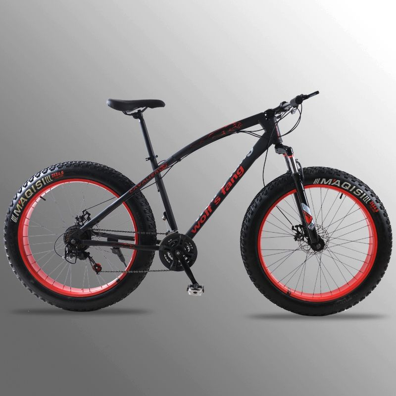 mountain bike 7/21speed bicycle 26x4.0 fat bike Spring Fork snow bike road bike Front and Rear Mechanical Disc Brake bicicleta