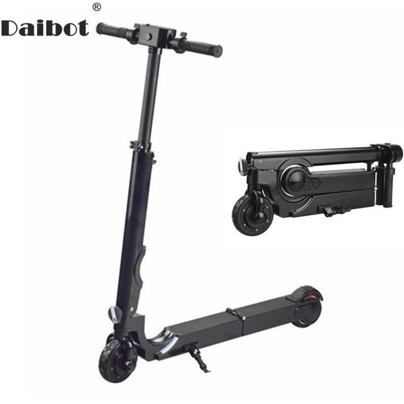 Daibot Elektrische Roller Erwachsene Zwei Rad Elektro-scooter Bürstenlosen Hub Motor 200 W 24 V Mini Klapp Tretroller Für erwachsene
