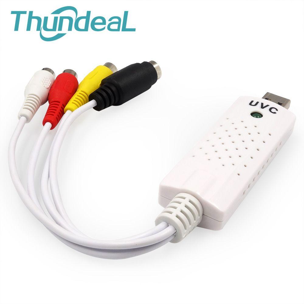 UVC 2.0 Easycap Audio Video USB Capture Card Adapter VHS to DVD For PC Win7/8/XP/Vista Converter RCA Easiercap