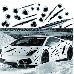 LEEPEE Auto Seite Aufkleber 3D Kugel Loch Lustige Aufkleber Auto Motorrad Dekoration Aufkleber Auto Styling