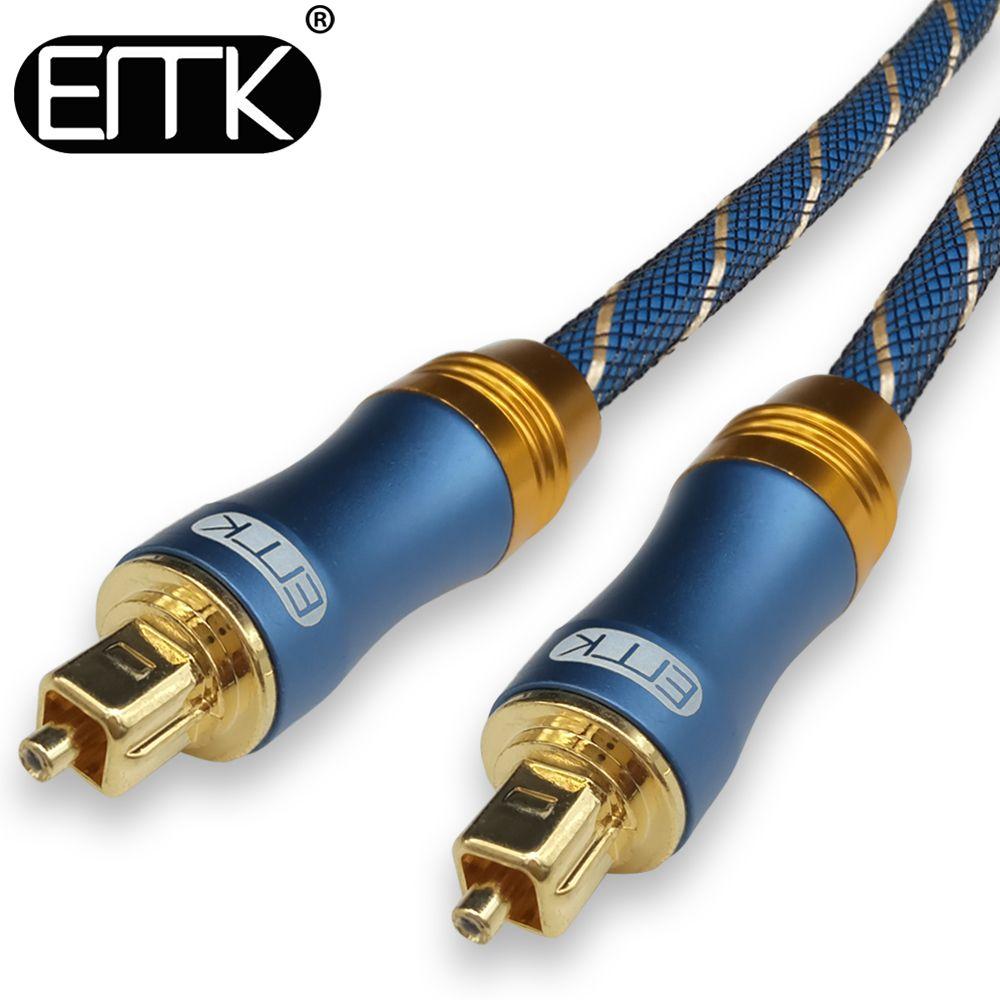 EMK 5,1 Digital Sound Optischer SPDIF Toslink Kabel Faser Optische Audio Kabel mit geflochten jacke OD6.0 1 mt 2 mt 3 mt 10 mt 15 mt