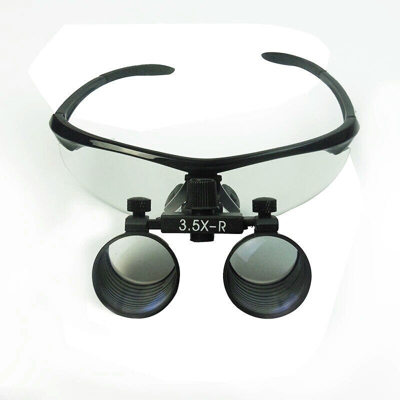 3.5X Ophthalmic Binocular Dental Clamp Magnifier Portable Clip Medical Loupe Optical Glass Surgery Magnifying Glass