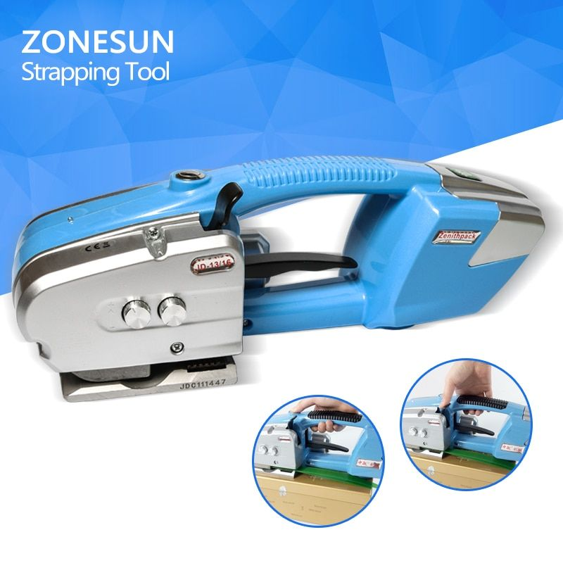 Portable Electric Battery Powered Plastic Strapping Tool Friction Welding Strapping Machine for PP or PET Strap