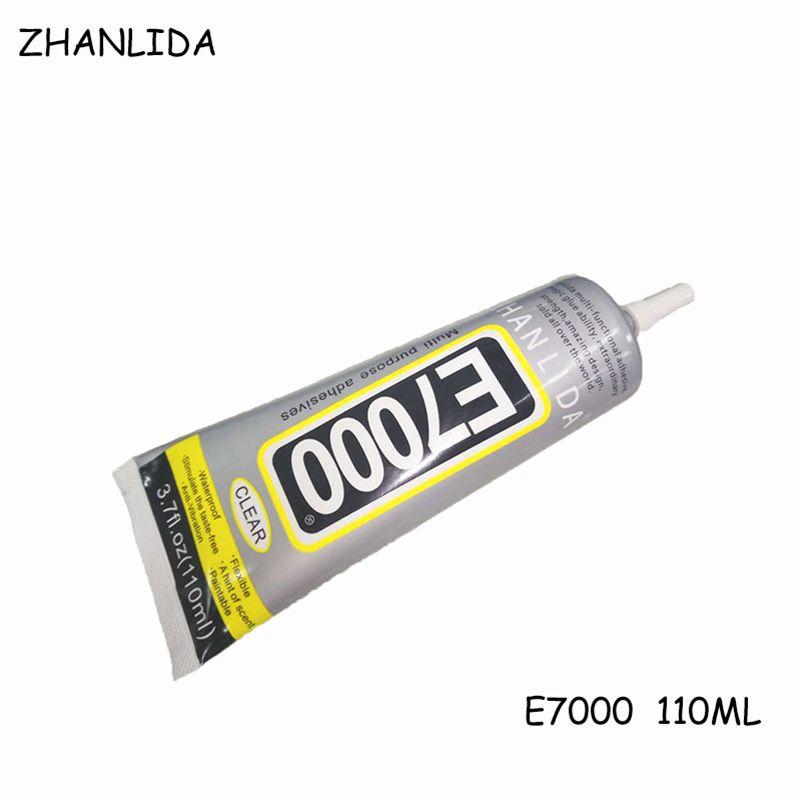 E7000 ZHANLIDA 110 ml Pegamento Transparente Multiuso E-7000 Adhesivo Pegamento de La Joyería Diy Artesanía de Cristal Super Exceder B7000 Pegamento Líquido