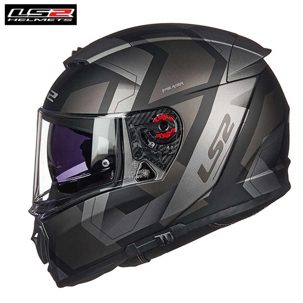 * Freies PINLOCK * LS2 FF390 BREAKER BAZ Full Face Motorrad Helm Männer Racing Casque Moto Capacetes de Motociclista Motor helm