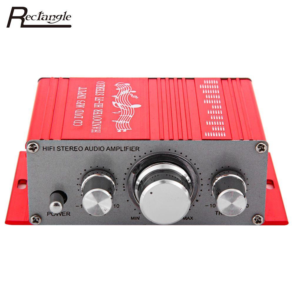 12V Hi-Fi Car Amplifier Subwoofer Music Player Aluminum Car Digital Stereo Amplifier 2 Channel Audio Player CD DVD MP3 Input