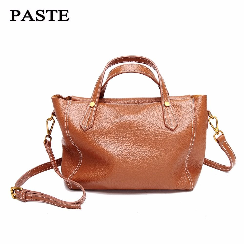 2017 brand best leather fashion women small tote bag shoulder bags ladies classic handbag pattern leather