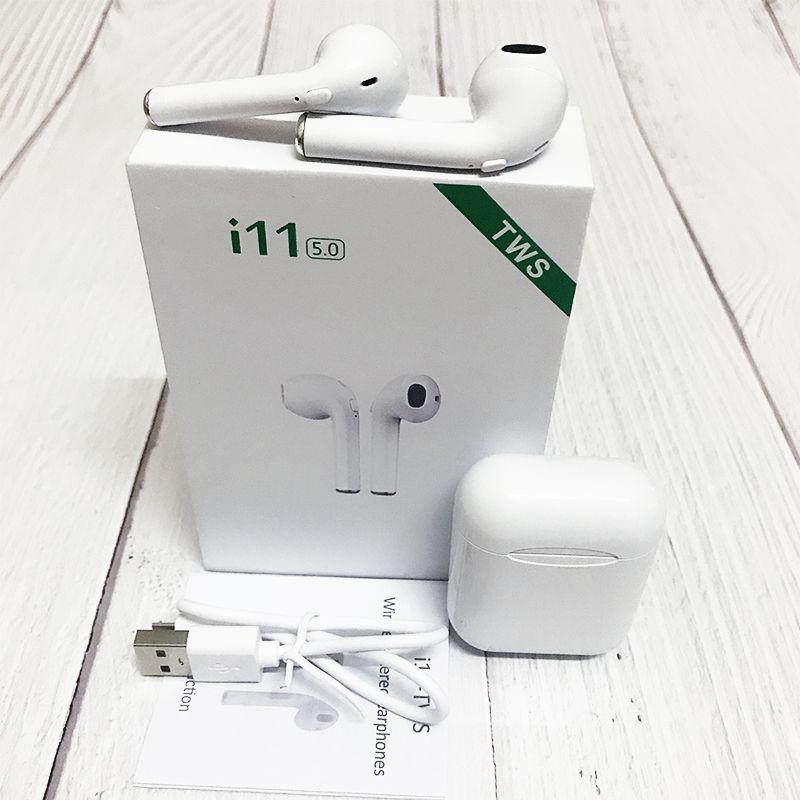 i11 Tws Wireless Mini Bluetooth Earbuds Headset Headphone Earphones In-ear Phone Earpiece Pk i12 i10 Mi Andorid Audifonos elari