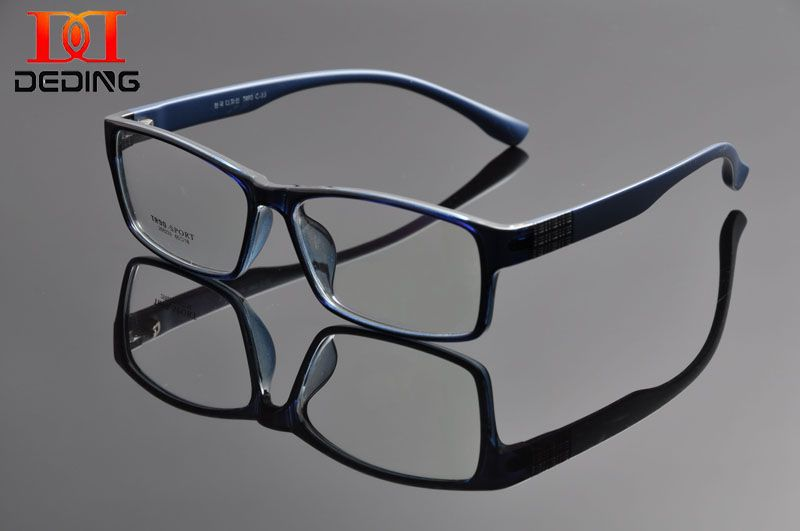 DeDing hommes Super grand Large surdimensionné plein cadre rectangulaire clair lentille lunettes cadre Size60-18-148mm anteojos de hombres DD1100