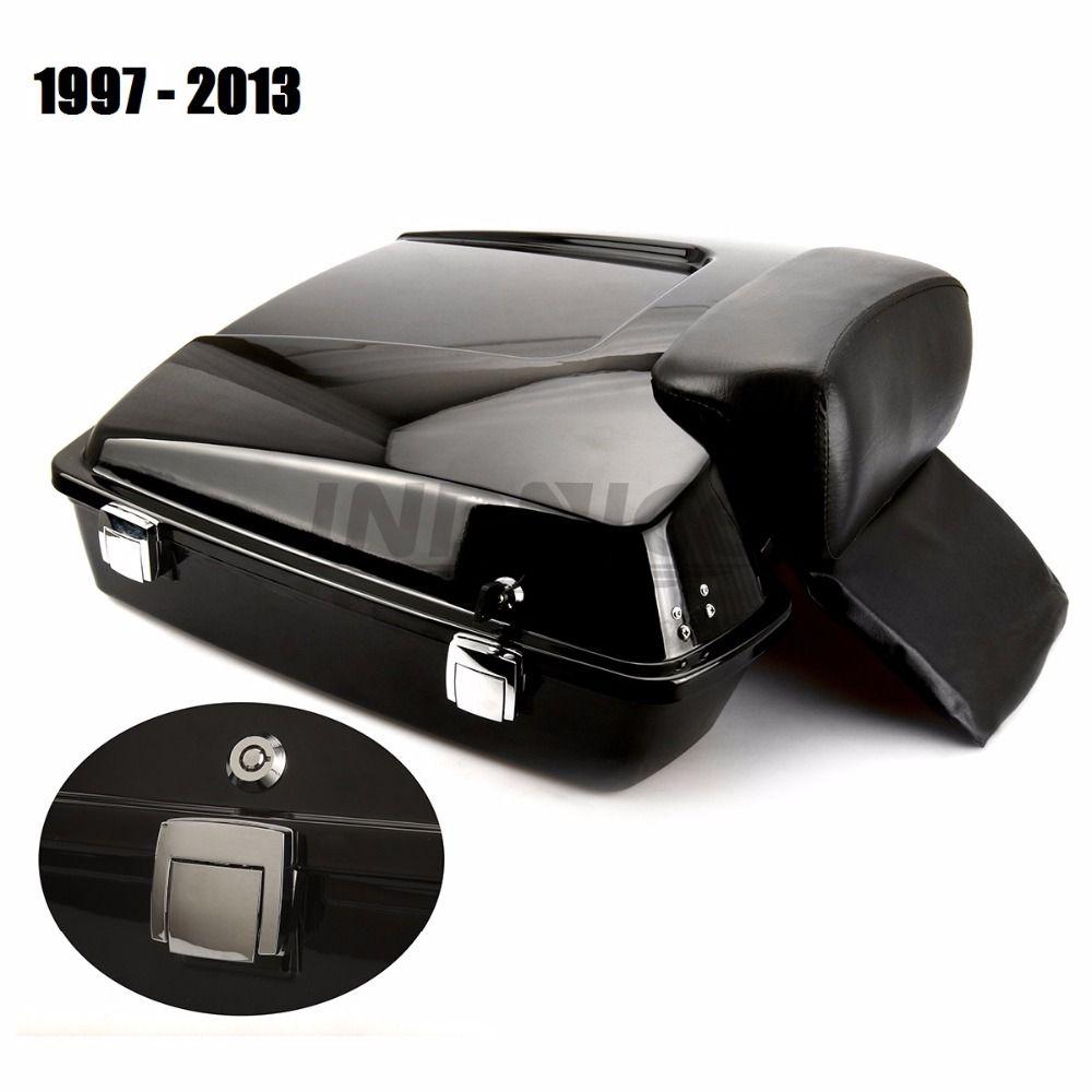 Schwarz glänzend FLHR Rasiermesser Tour Pak Pack FLHTC Stamm mit Rückenlehne Für Harley Road Street glide Glide 1997-2013