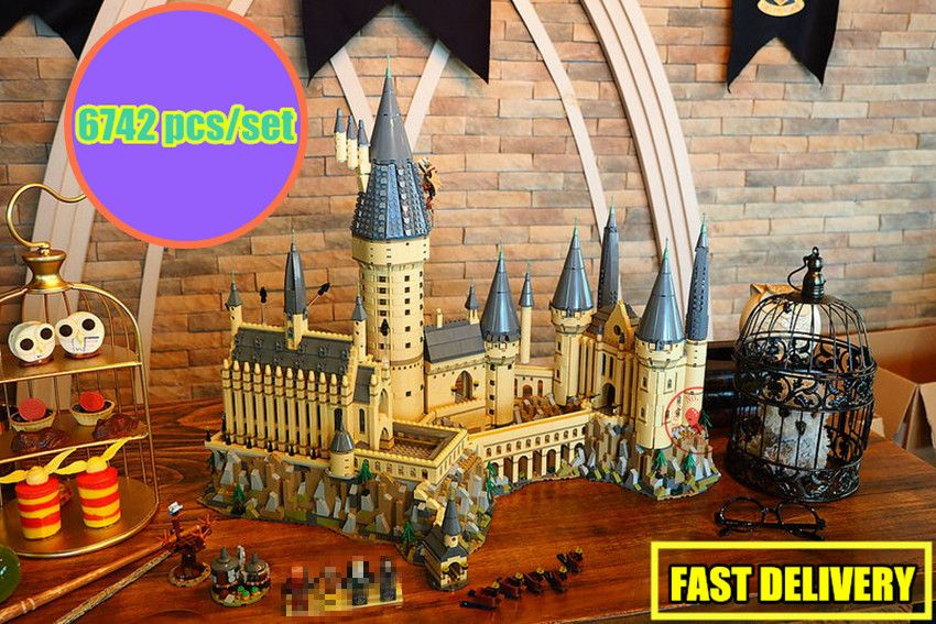New Harry Magic Hogwarts Castle fit legoings harry potter castle city creator Building Blocks Bricks Kid 71043 kid DIY Toys gift