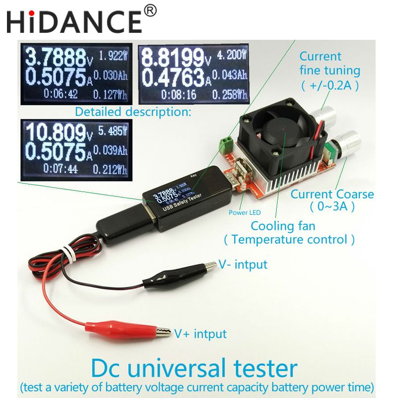 Battery Tester Power meter voltmeter ammeter capacity 18650 Lithium polymer nimh <font><b>carbon</b></font> zinc nickel cadmium alkaline mercury
