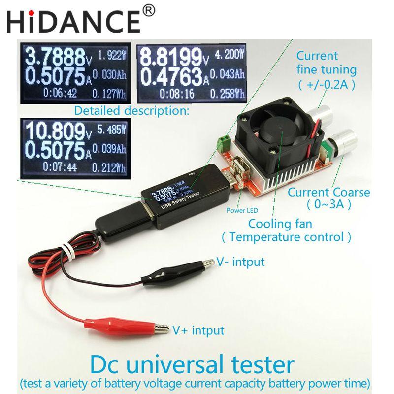 Testeur de batterie compteur de puissance voltmètre ampèremètre capacité 18650 Lithium polymère nimh carbone zinc nickel cadmium alcalin mercure