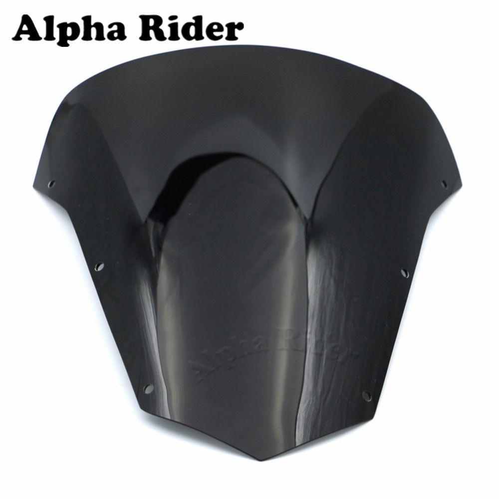 High Quality Windshield WindScreen Ariflow Deflector Guard Windproof Glass for Yamaha FZ6 FAZER S2 2007 2009 2010 07-10 Black
