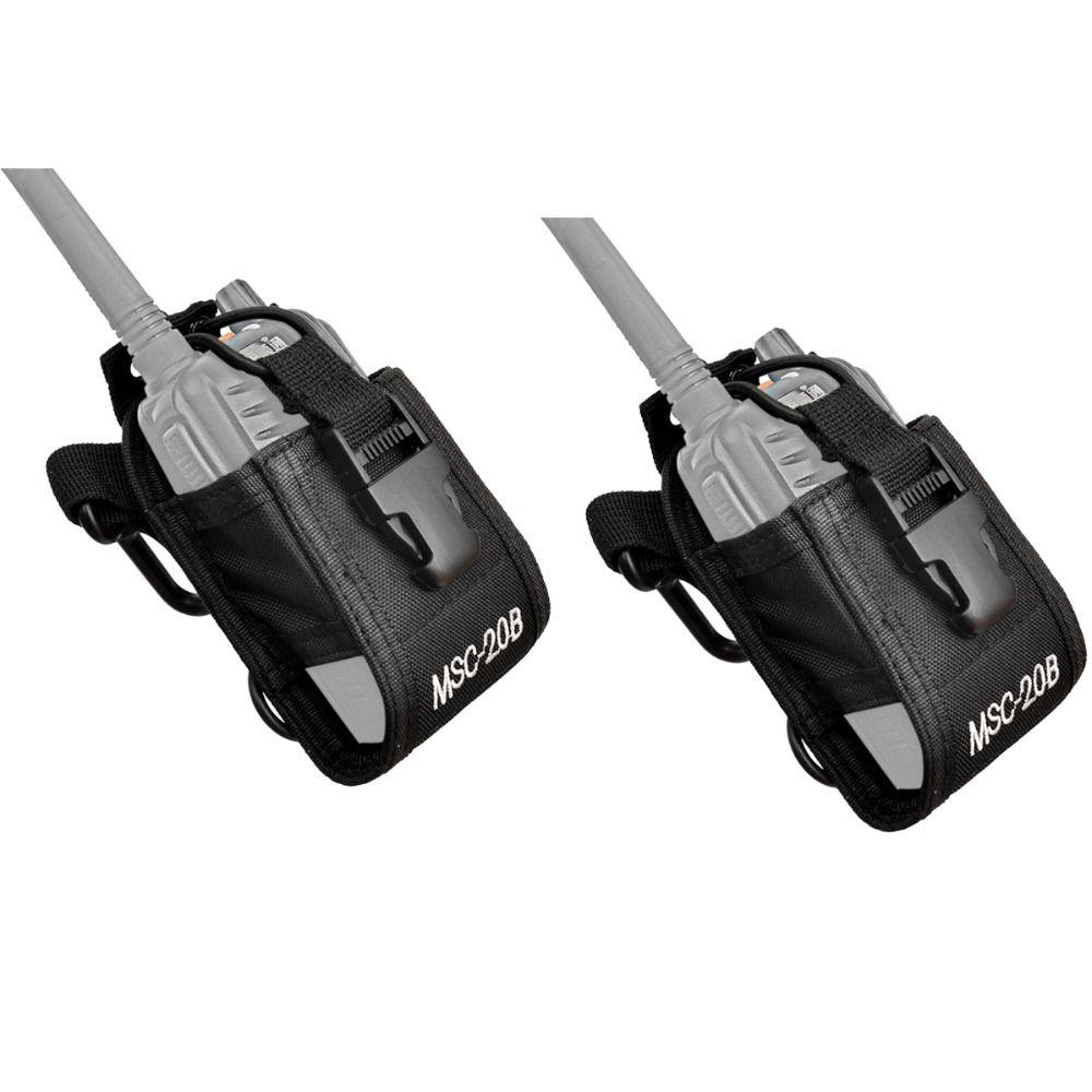 2pcs Multi-function Radio Case Holder for Kenwood for Yaesu for Motorola GP338 Baofeng BF-888S Retevis H777 Walkie Talkie J0067A