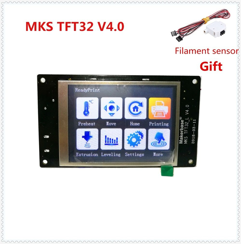 MKS TFT32 V4.0 touch screen splash lcds smart controller touching TFT 32 display RepRap TFT monitor creen lcd for 3D Printer