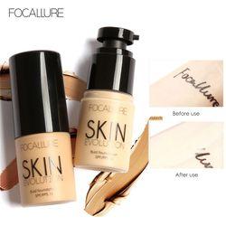 Focallure Basis Wajah Alas Bedak Cair Krim Cakupan Penuh Concealer Minyak-Kontrol Mudah Dipakai Lembut Wajah Makeup Foundation