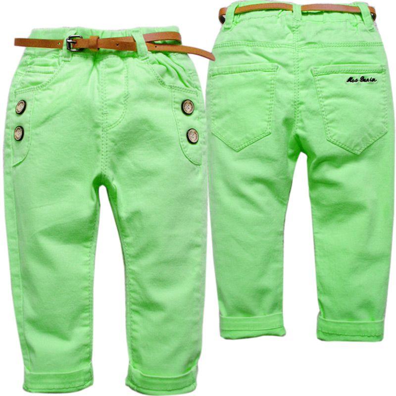 6338 повседнвыне детские штаны брюки для мальчиков с эластичной талией для девочек Дети Весна и осень Baby Nice Мода с эластичной талией зеленый и...