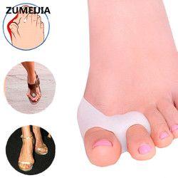 2 pieces=1 Pair Pedicure Foot Care Tool Sholl Hallux Valgus Big Toe Bone Bunion Corrector Gel Toe Separator Pedicure Tools