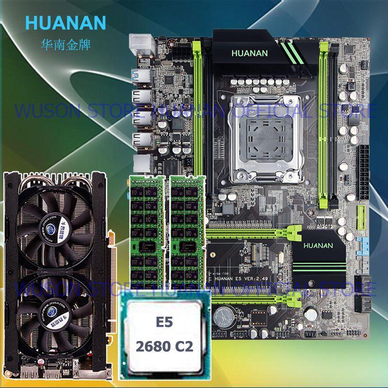 HUANAN X79 MOTHERBOARD-FREIES V2.49 LGA2011 prozessor Xeon E5 2680 C2 RAM 16G (2*8G) DDR3 RECC grafikkarte GTX760 4GD5 M.2 PCI-E NVME