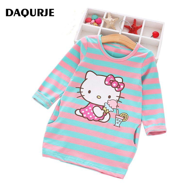 2017 Girls Dress Cartoon Kids Dresses For Girl Clothes 2-8Y Baby children clothing Vestidos Costume Roupas Infantis Menina