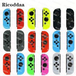 Ricoddaa Anti-Slip Silicone Soft Case For Nintendo Switch Protective Cover Skin For Nintend Switch Joy-Con Controller Accessory