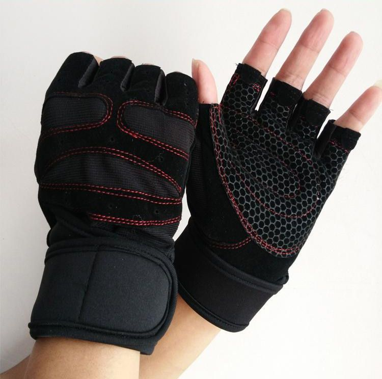 New Sports Weight Lifting Gym Gloves unisex Fitness Training Workout Wrist Wrap Exercise Half Finger Glove For Men Women