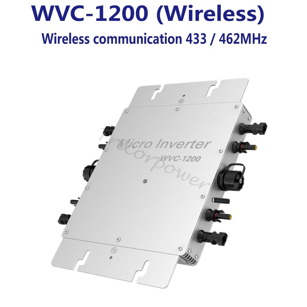 1200W Grid Tie Inverter with Wireless Communication, MPPT Pure Sine Wave Solar Inverter 22-50V DC Input