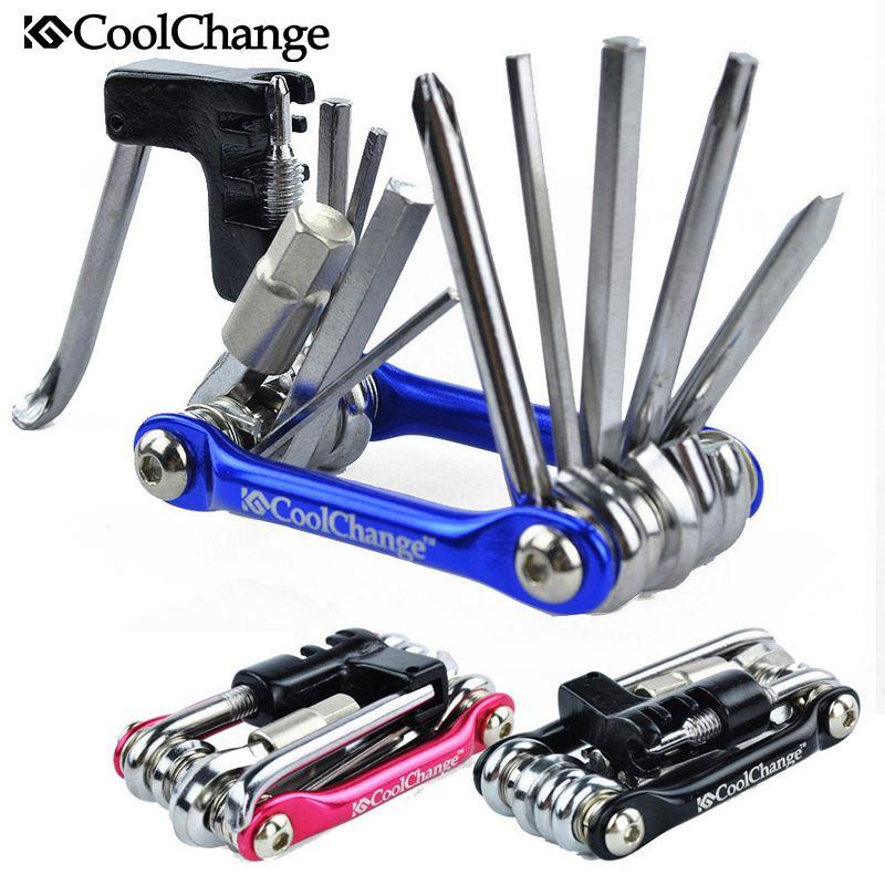 Coolchange 11in1 Fahrradreparaturwerkzeuge Radfahren Kette Rivet Extractor Kit 100% Hohe Qualität