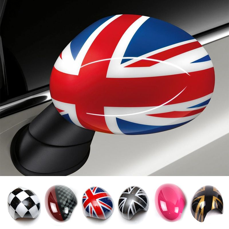 Outside Door Rearview Mirror Decoration Protector Shell Cover Housing For Mini Cooper One S JCW F56 F55 Car-styling Accessories