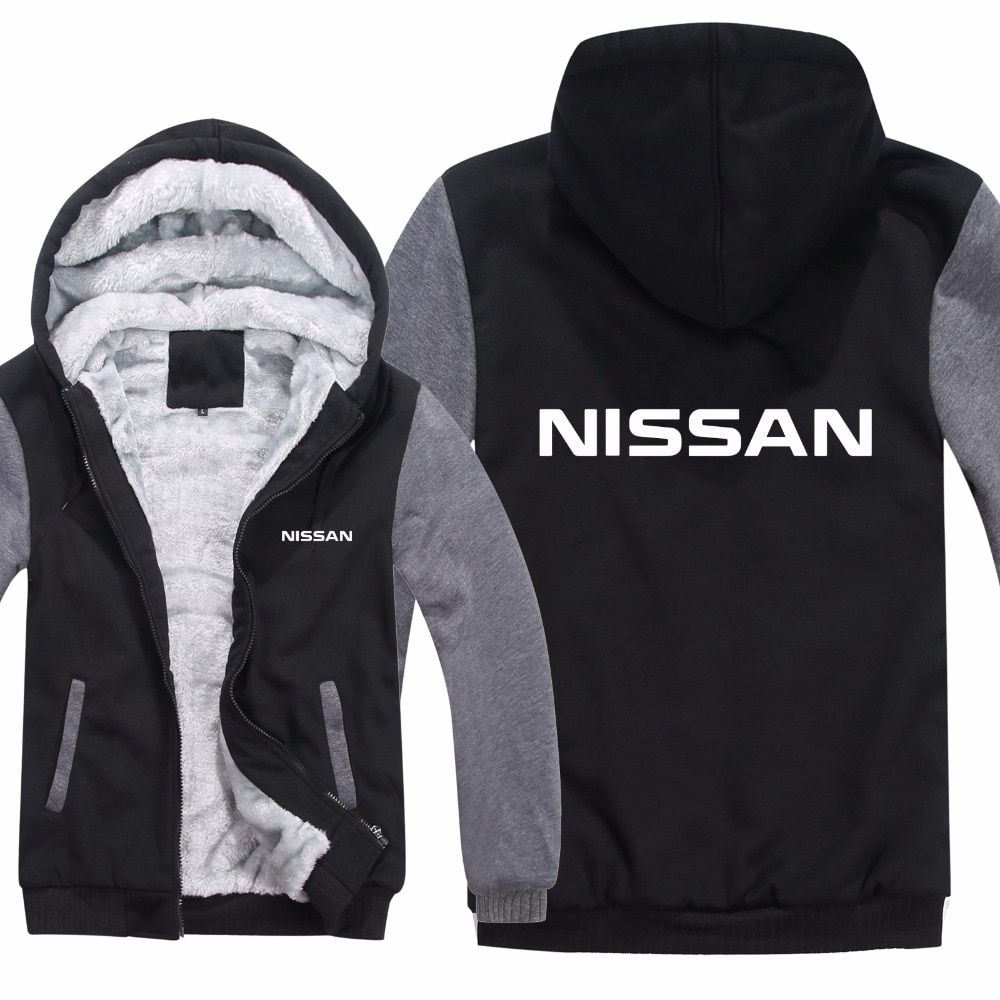 Nissan Hoodies Jacket Winter Pullover Car Man Coat Men Wool Liner Fleece Unisex GT-R Sweatshirts