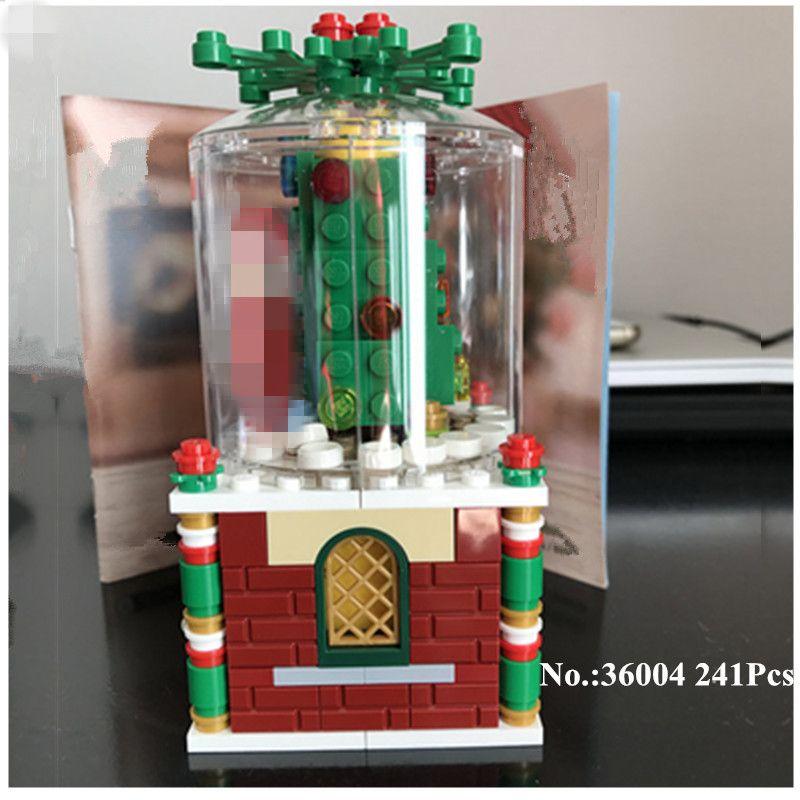 H & HXY 36004 241 Unids Creativa Serie de La Navidad Bola De Cristal Conjunto de Bloques de Construcción Ladrillos Divertidos Juguetes del Muchacho Lepin Como Gitfs Navidad